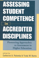 Assessing Student Competence in Accredited Disciplines