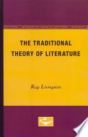 The Traditional Theory Of Literature book