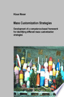 Mass Customization Strategies
