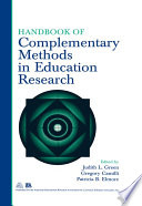 Handbook of Complementary Methods in Education Research