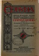 Corvina rivista di scienze  lettere ed arti della Societ   ungherese italiana Mattia Corvino