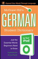 McGraw Hill s German Student Dictionary for Your iPod  MP3 CD ROM   Guide