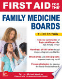 First Aid for the Family Medicine Boards  Third Edition