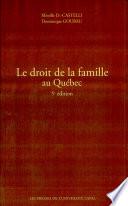 illustration du livre Le droit de la famille au Québec