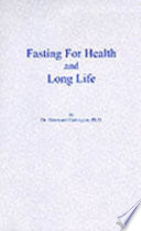 Fasting for Health and Long Life