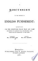 A discussion on the doctrine of endless punishment