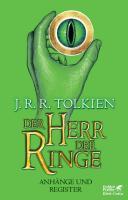 Der Herr Der Ringe Anh Nge Und Register Neuausgabe 2012