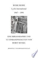 WEIßE REIHE 1967-1991 und 113 Vignetten von Horst Hussel