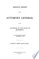 Report of the Attorney General Book PDF