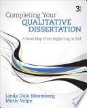 Completing Your Qualitative Dissertation