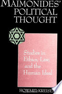 Maimonides' Political Thought Aristotelian And Jewish Sources