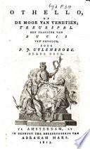 Othello Of De Moor Van Veneti N Treurspel