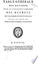 Collection générale des décrets rendus par l'Assemblée Nationale,