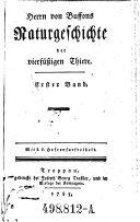 Herrn von Bussons Naturgeschichte der Viersutzigen Thiere