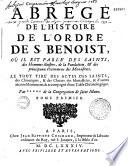 Abrégé de l'histoire de l'Ordre de S. Benoît...par *** de la Congrégation de Saint-Maur (Louis Bulteau)