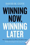 Book Winning Now  Winning Later