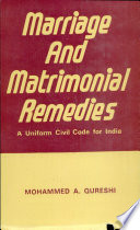 Marriage and Matrimonial Remedies