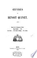 Oeuvres de Benoit Quinet