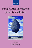 Europe s area of freedom  security  and justice