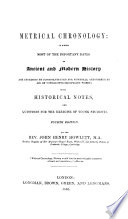 Metrical Chronology Second Edition