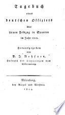 Tagebuch eines deutschen Offiziers über seinen Feldzug in Spanien im Jahr 1808