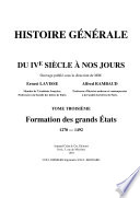 Histoire g  n  rale du IVe si   cle    nos jours   III   Formation des grands   tats   1270 1492