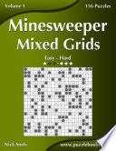 Minesweeper Mixed Grids   Easy to Hard   Volume 1   156 Puzzles