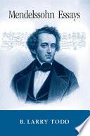 Mendelssohn Essays