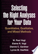 Selecting The Right Analyses For Your Data