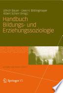 Handbuch Bildungs- und Erziehungssoziologie