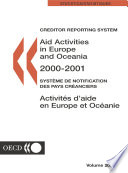 Aid Activities in Europe and Oceania 2002