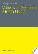 Values of German Media Users