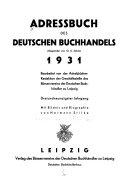 Adressbuch des deutschen Buchhandels