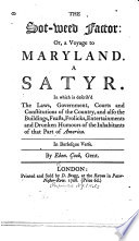 The Sot weed Factor  Or  A Voyage to Maryland