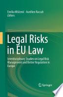 Legal Risks in EU Law