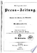 Allgemeine Press Zeitung  Annalen der Presse  der Literatur und des Buchhandels  Redigirt unter der Leitung von Julius Eduard Hitzig