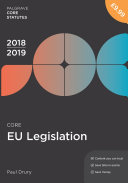 CORE EU LEGISLATION 2018–19