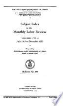 Bulletin of the United States Bureau of Labor Statistics