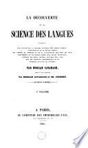 La d  couverte de la science des langues