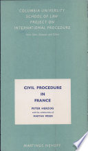 Civil Procedure in France