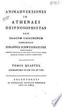 Athenaei Naucratitae Deipnosophistarum libri quindecim