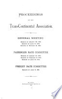 Proceedings of the Trans-continental Association