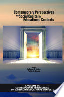 Contemporary Perspectives On Social Capital In Educational Contexts