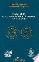 Parole  communication et symbole en Oc  anie