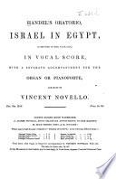 Handel's Oratorio, Israel in Egypt ...