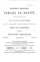 Handel s Oratorio  Israel in Egypt