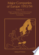 Major Companies of Europe 1993 94