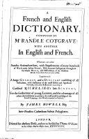 Book A French and English dictionary