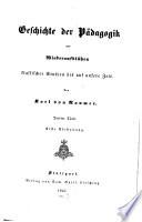 Geschichte der P  dagogik vom Wiederaufbl  hen klassischer Studien bis auf unsere Zeit