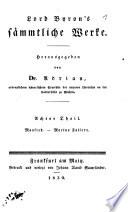 Lord Byron's sämmtliche Werke